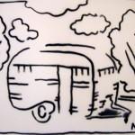 Camper Stencil